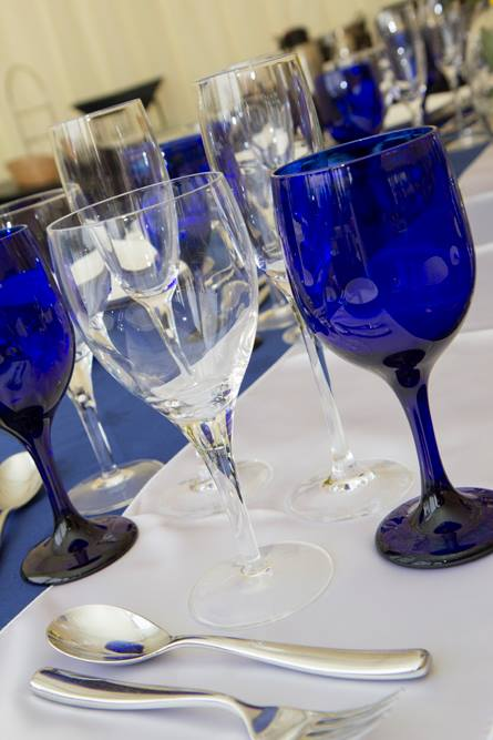 Blue and Silver Table