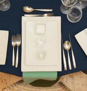 Navy and Mint Table