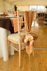 Peach and Brown Organza Chivari Chair