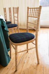Black Watch Tartan Chivari Chair